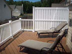 privacy screen for deck railing patio