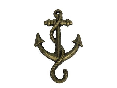Cast Iron Decor wholesale rustic gold cast iron anchor hook 5 quot model ship