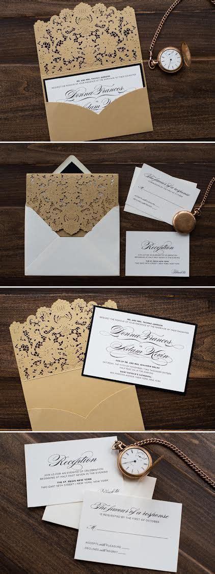 Luxe Laser Cut Wedding Invitation - the world s catalog of ideas
