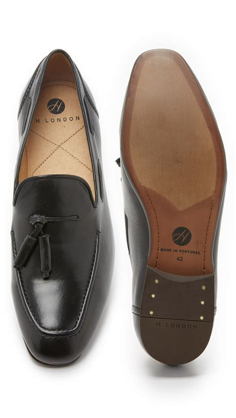 h by hudson loafers h by hudson tassel loafers in black for lyst