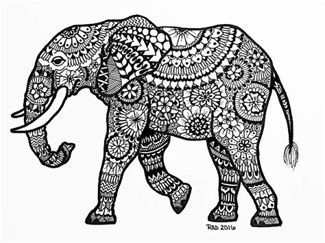 pattern elephant art zentangle animals