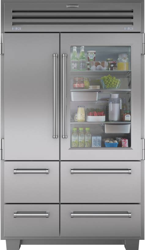 sub zero freezer drawers with ice maker sub zero 648prog 48 inch built in side by side