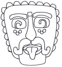 mayan coloring pages pdf mayan masks colouring pages south america pinterest