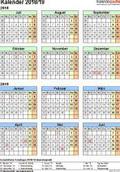 halbjahreskalender  als excel vorlagen zum ausdrucken