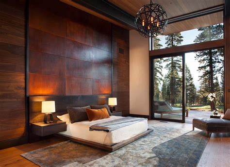 home interior bedroom fabulous mountain modern retreat in the high sierras