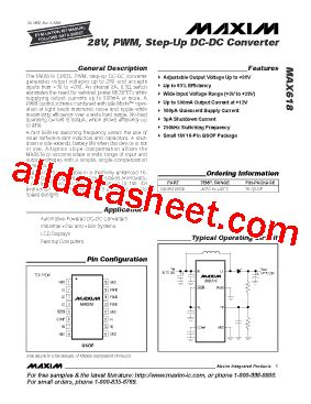 maxim integrated products chelmsford ma max618 데이터시트 pdf maxim integrated products