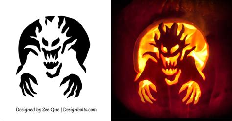 halloween scary cool pumpkin carving stencils