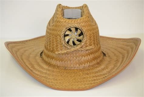 hats with fans on them kool cowboy hat with solar fan