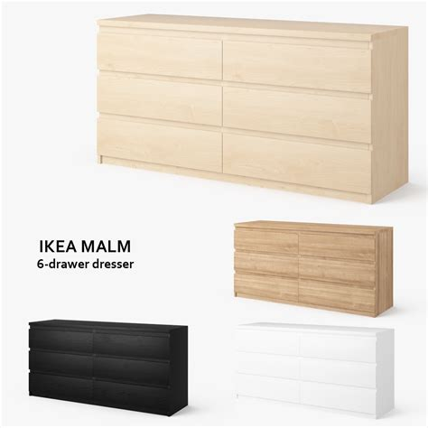 ds max ikea malm  drawer dresser