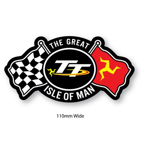Iom Tt 2016 Original T Shirt Tt Logo Wings Black isle of tt patches