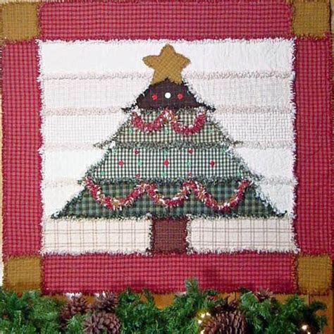 make a rag strip christmas tree raggedy pine pattern q101 paper pattern out of the blue quilts