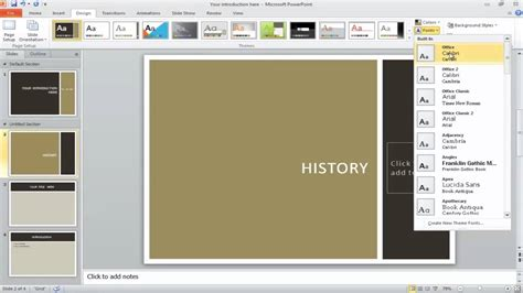 applying themes in powerpoint 2010 how to apply a theme to powerpoint presentation youtube