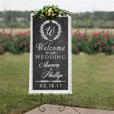 eheringe zeichen personalized wedding welcome sign wall decal welcome to