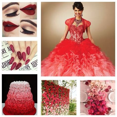 quinceanera themes red pinterest the world s catalog of ideas