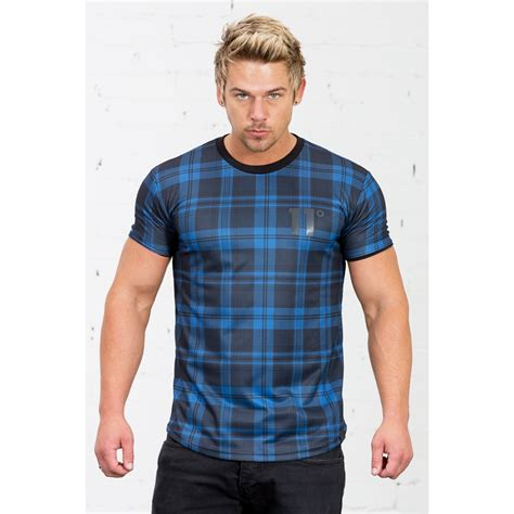 Tartan Knot Blouse 1 tartan dual layer t shirt blue 11 degrees from eleven degrees uk