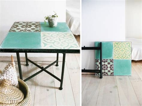 moroccan tile outdoor table tiled moroccan side tables for a song remodelista