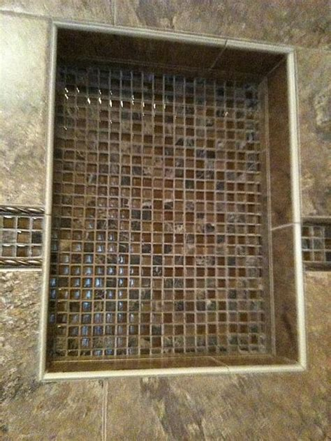 Travertine Shower Ideas help with trim for niche ceramic tile advice forums