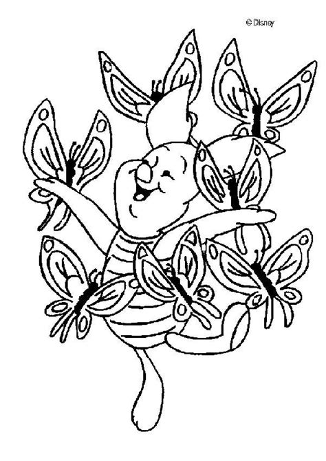 disney butterfly coloring pages winnie the pooh coloring pages piglet with a butterfly