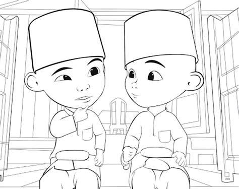 Jago Peribahasa Bersama Upin Ipin by Gambar Gambar Mewarnai Upin Ipin Anak Kartun Di Rebanas