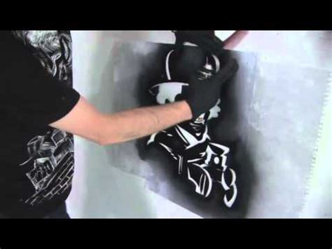 create  graffiti stencil youtube
