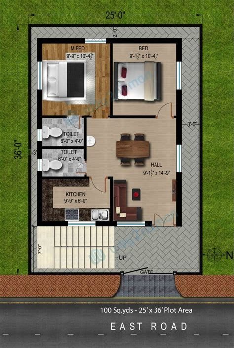 fancy   sq ft house plans east facing north arts  bhk