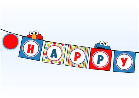 elmo happy birthday banner printable items similar to sesame street happy birthday banner elmo
