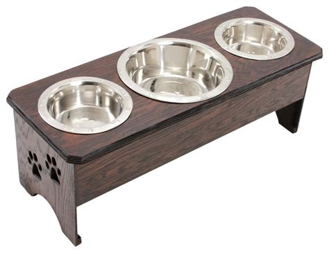 3 bowl feeder paw print 3 bowl feeder traditional pet bowls and feeding by bow wow wow designs