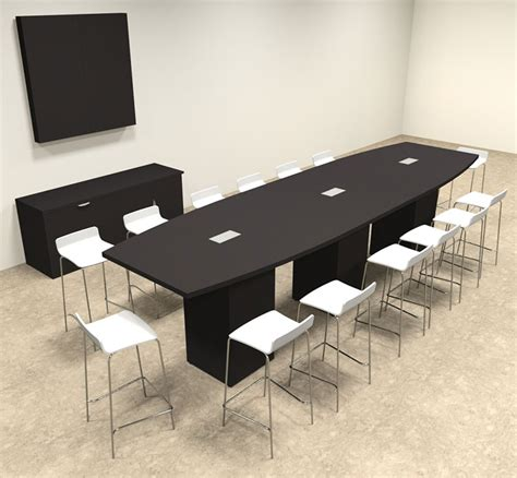 Bar Height Meeting Table Boat Shape Counter Height 14 Conference Table Of Con Ct18