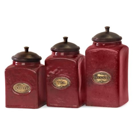 red ceramic kitchen canisters canister sets house home