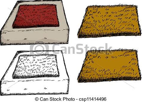 isolated door mat on step vector graphic instant