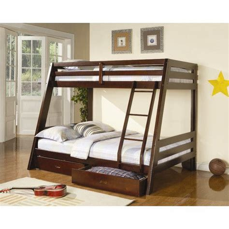 bunk bed with full bed on bottom 1000 ideas about full bunk beds on pinterest low loft