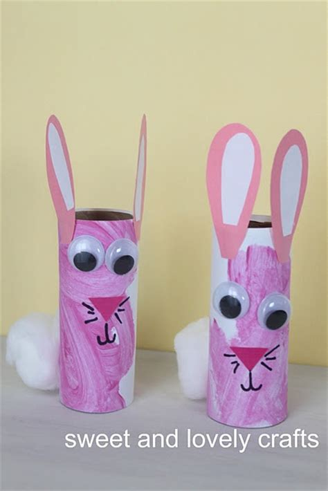 Toilet Paper Easter Bunny Craft - toilet paper roll bunnies easter