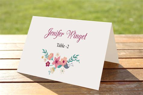 wedding place card template indesign tri fold table tent template indesign 187 designtube