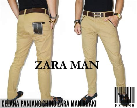 Celana Chino Zara Panjang fashion pria majesty shop