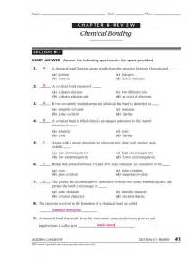 Chapter 6 Chemical Bonding Section 4 by Chapter 6 The Periodic Table Worksheet Answers