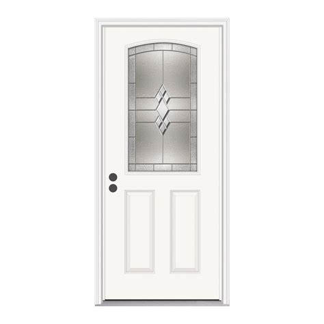 jeld wen 37 438 in x 81 75 in 1 2 lite kingston primed
