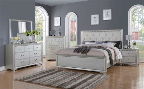 chic modern rb white tufted pc queen size contemporary bedroom set ebay