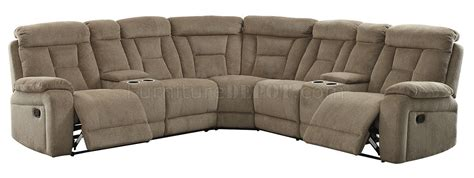 maybell sectional sofa cm6773mc w recliners in mocha fabric