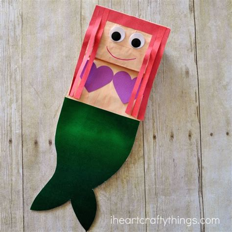 Paper Bag Craft - paper bag mermaid craft for i crafty things