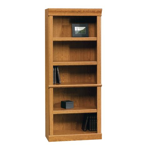 Sauder Oak Bookcase Shop Sauder Orchard Carolina Oak 5 Shelf Bookcase At Lowes