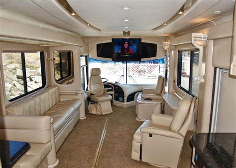 motor home interior used rvs 1997 newell 45 with phantom slide out room for