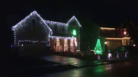 christmas lights display with music harrison ohio youtube