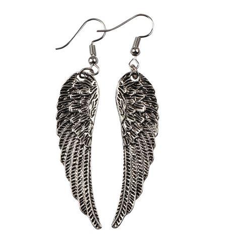 Wing Earrings supernatural wing pendants earrings peacock wings