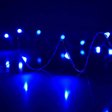 Blue Plug In Led Dewdrop String Lights Blue String Lights