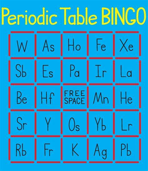 periodic table bingo cutout maker variquest