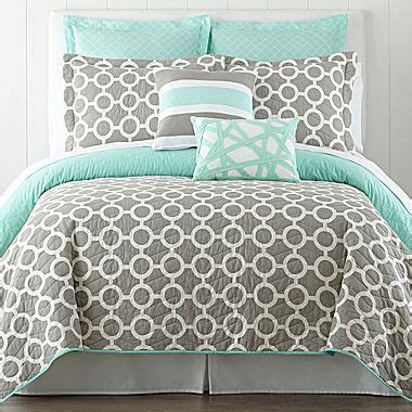 mint and gray bedding mint grey bedding add black for the home pinterest