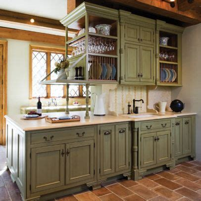 rustic green kitchen cabinets best 25 distressed kitchen cabinets ideas on pinterest