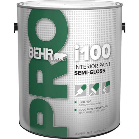 home depot pro x paint behr pro 1 gal i100 white semi gloss interior paint