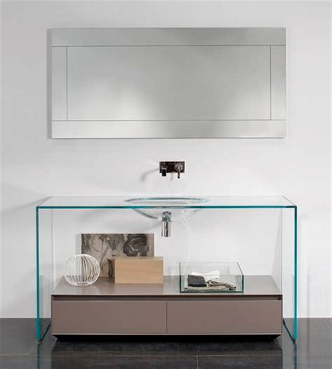 Modern Glass Vanity by Glass Vanity By Antonio Lupi Brillante