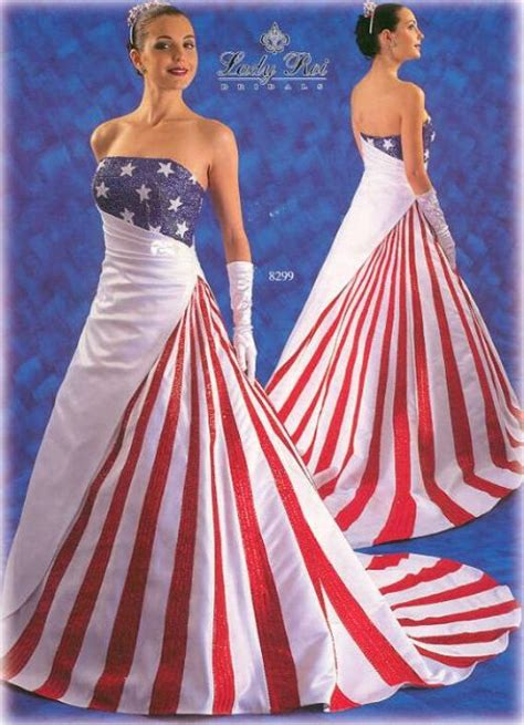 American Wedding Dresses by The Two American Flags Lawyers Guns Money Lawyers